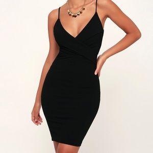 Lulu's Light My Fire Black Bodycon Dress